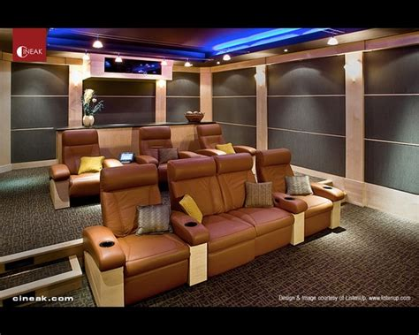 cineak fortuny seats used in modern home theater