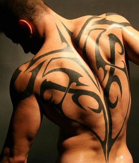 Tattoo Back Tribal | 25 excellent tribal back tattoos creativefan