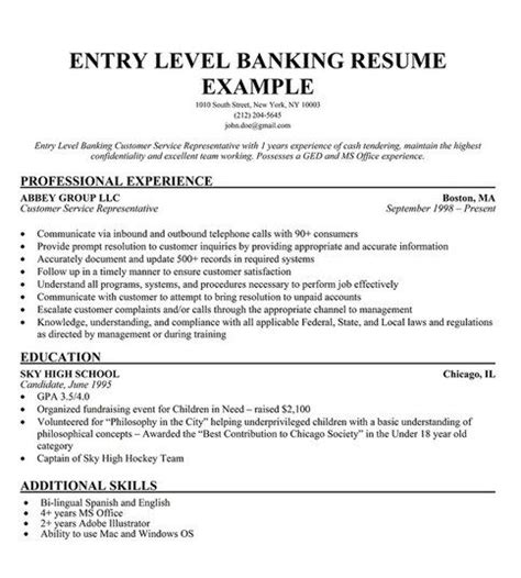 Entry Level Bank Teller Resume by 25 Best Ideas About Bank Teller On Customer