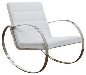 Miller modern design white rocking chair modern rocking chairs by great deal furniture