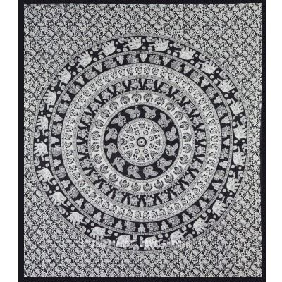 indian pattern wall hanging black and white indian elephant mandala tapestry wall