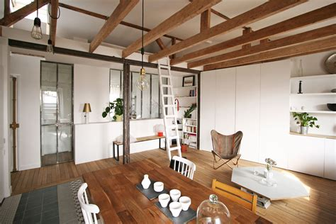 open floor plan apartment apartment in paris gets a fresh look after a renovation