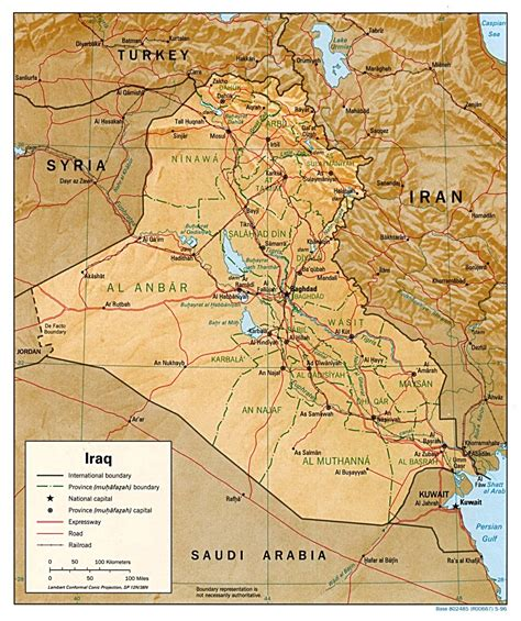 map of baghdad iraq nationmaster maps of iraq 76 in total