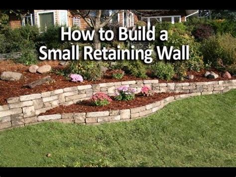 build  small retaining wall   weekend youtube