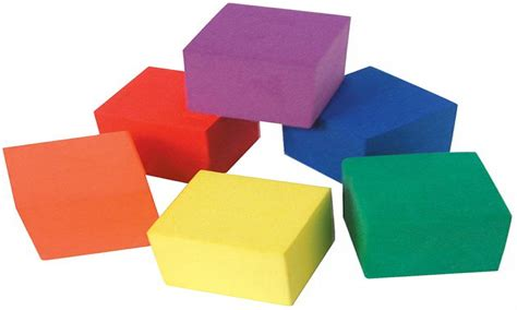 storage seating cubes blue foam block cube color foam