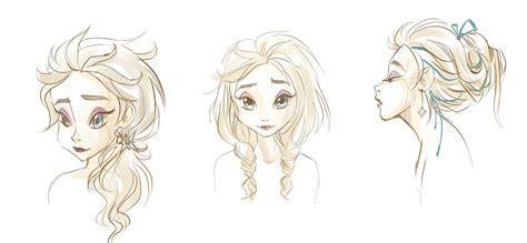 disney hairstyles drawing elsa s hairstyles sketch by paulina ap on deviantart