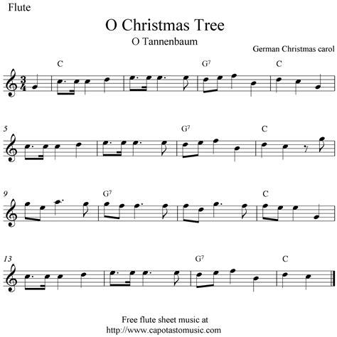 o christmas tree o tannebaum free christmas flute sheet