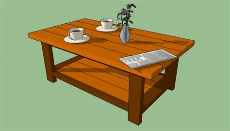 how to build a coffee table howtospecialist how to