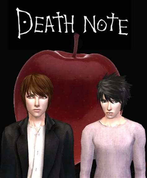 sims 4 death note cc mod the sims death note kira vs l