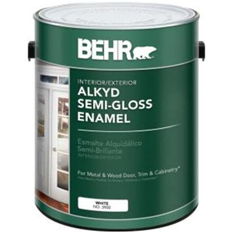 Semi Plastisol White Colour behr 1 gal white alkyd semi gloss enamel interior exterior paint 390001 the home depot