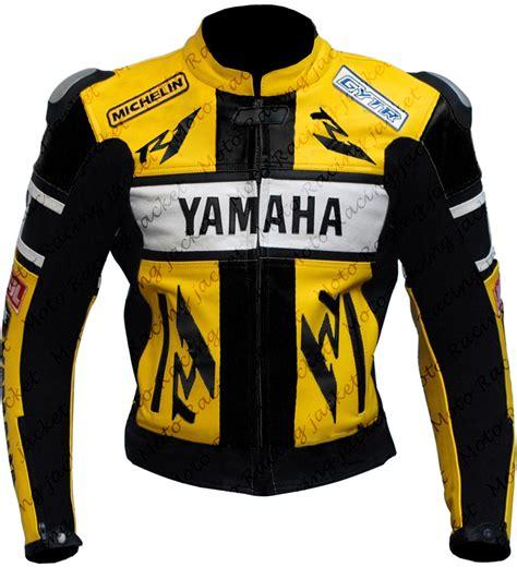 yellow motorcycle jacket yamaha yzf r1 yzf r6 yellow motorbike 46 rossi leather