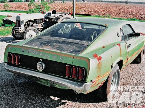 rusty muscle car rusty but rare 1969 ford mach 1 this would be a