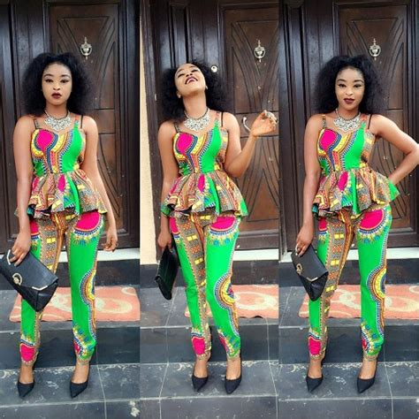 ankara with trouser up nd down fashionista ladies rock trendy ankara trousers and
