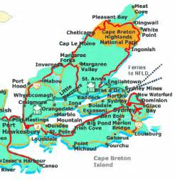 cape breton canada map map of scotia and cape breton