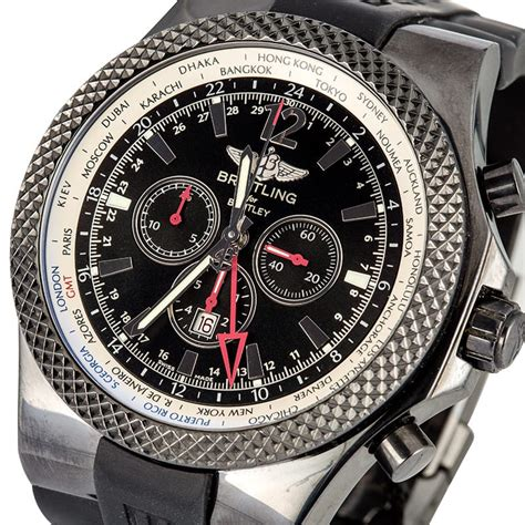 breitling bentley breitling for bentley gmt midnight carbon