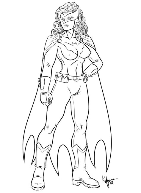 bat woman coloring page batwoman by kaufee on deviantart