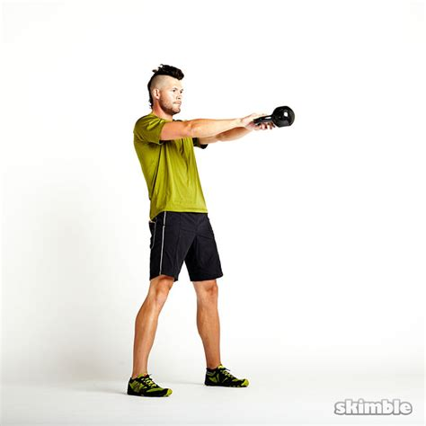 kettlebell side swing kettlebell swings exercise how to workout trainer by