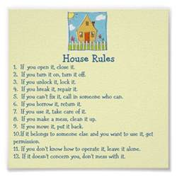 house rules poster zazzle
