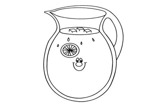 imagenes para colorear jarra jarra de agua para colorear imagui