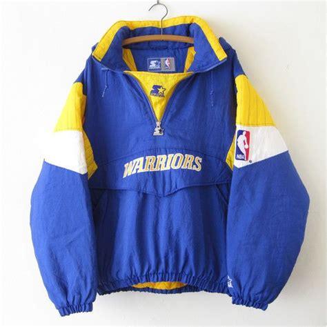 golden state warriors l vtg 1990s golden state warriors starter jacket sz l large
