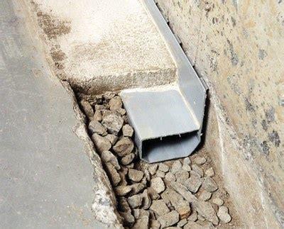 french drain systems  interior perimeter drainage