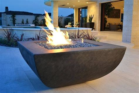 New Fire Glass Outdoor Pits Ideas Modern Sample With