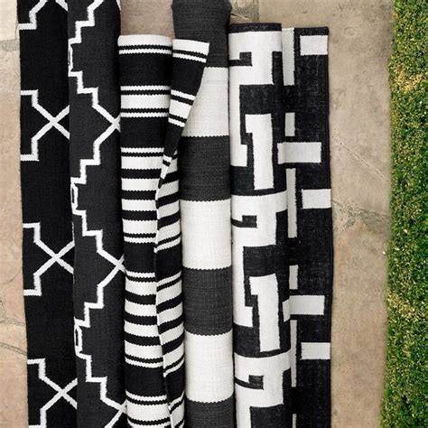 Black And White Stripe Outdoor Rug Black And White Striped Outdoor Rug Riviera Stripe Indooroutdoor Rug Black Williams Sonoma