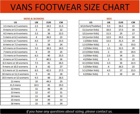 shoe size chart vans vans bishop womens ladies casual skate shoes sneakers surf