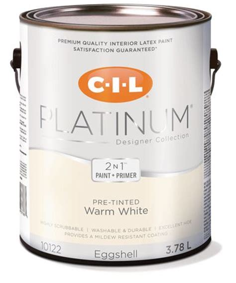 cil 174 platinum 174 interior paint pre tinted warm white 3 78 l walmart ca