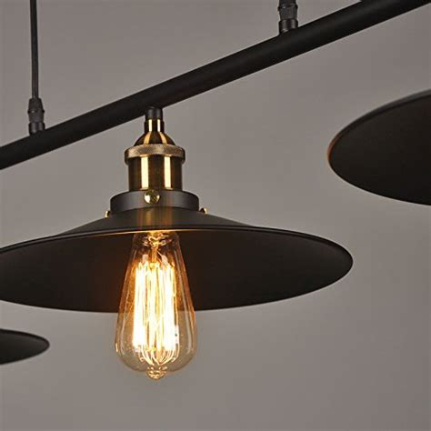 Pulley Island Light Winsoon Ship From Usa Creative Pulley Design Black Iron Painted 3 Lights Island Light Bar Retro