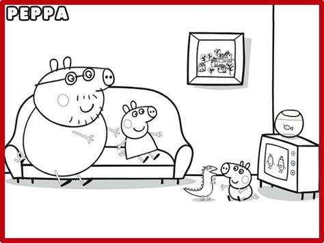 imagenes de niños viendo television para colorear pintar peppa pig y colorear dibujos de peppa pig