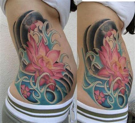 lotus tattoo side classic lotus tattoos on rib