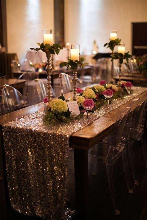 light pink sequin table runner 9 trending table runners for weddings mywedding