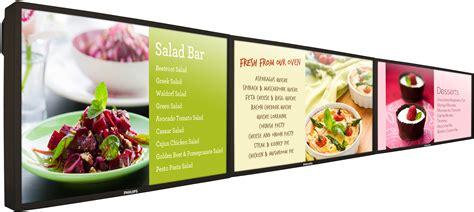 design digital menu board the new philips 47 bdl4771v in menu board configuration