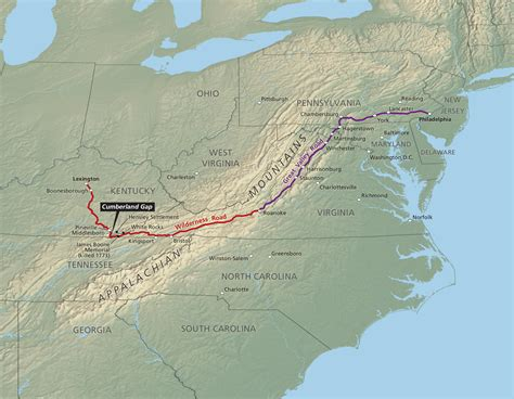 cumberland trail map search results for daniel boone wilderness road trail
