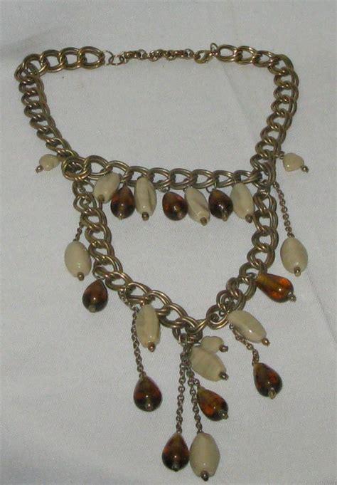 Vintage Glam Animal Necklaces by Vintage Bohemian 1980 S Original Tribal Glam Retro Beaded