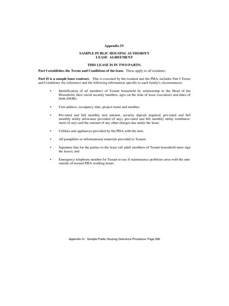 Rent Authority Letter Residential tenant lease form 9 free templates in pdf word excel