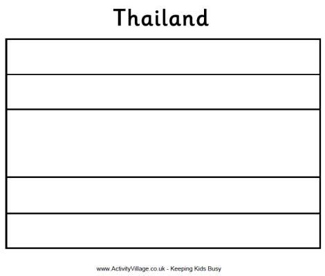thailand flag colouring page