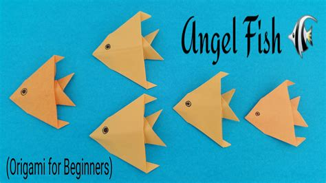 Papercraft For Beginners - how to make an easy paper quot fish quot origami for