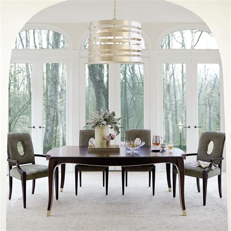 bernhardt dining room table and chairs miramont 5 dining table in finish and