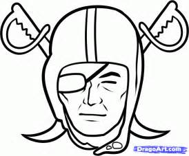 Football Drawing Template by Oakland Raiders Stencil Cliparts Co