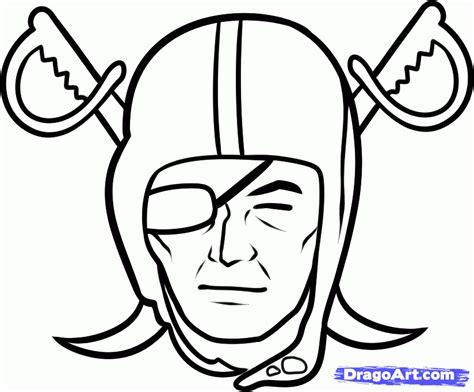 draw  raiders oakland raiders step  step