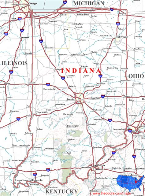 Indiana Find Indiana State Map Search Engine At Search