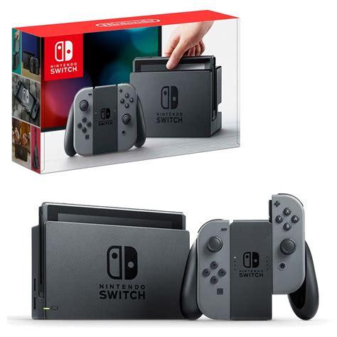 nintendo switch grey con console the gamesmen