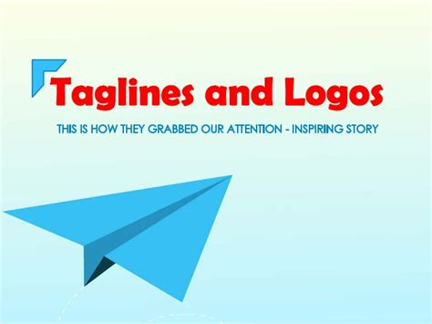 how to make a company logo and tagline taglines and logos ppt
