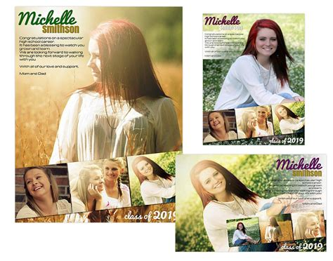 seniors ads yearbook templates michelle 14 99