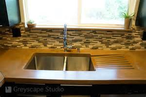 kitchen sink with integral drain board contemporary