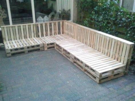 pallet bank bouwtekening loungebank van pallets garden pinterest
