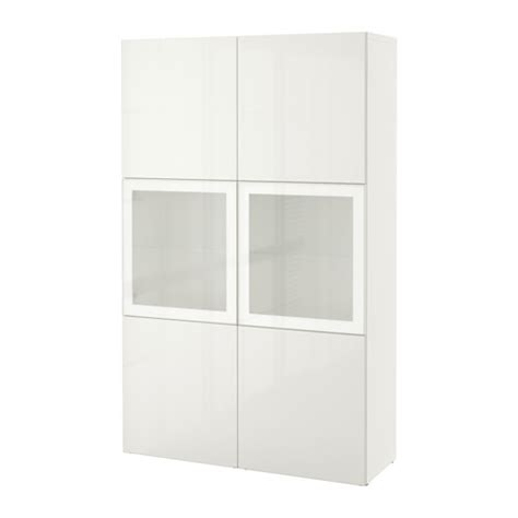 besta ikea vitrine best 197 storage combination w glass doors white selsviken