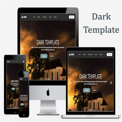 bootstrap themes free dark dark bootstrap template 187 webnots